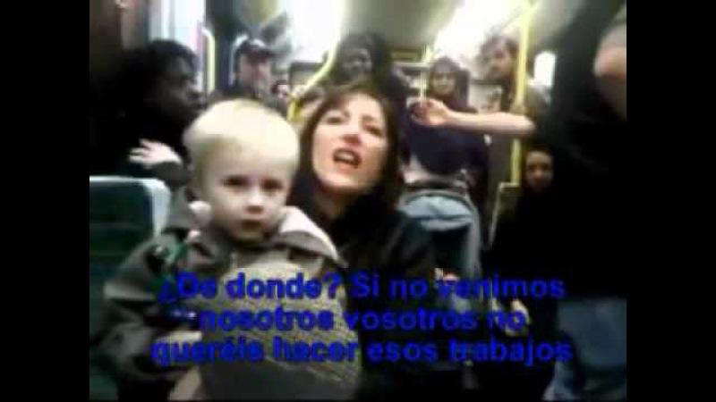 Racismo en tranvía en inglaterra (londres)