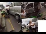 Colombia abusivo al volante en microbus MOTORCYCLE CRASH www.fastproducciones.com