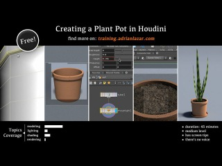 Creating a Plant Pot in Houdini - free tutorial