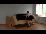 Новинка! двухъярусный диван трансформер в кровать с 3 мя спальными местами