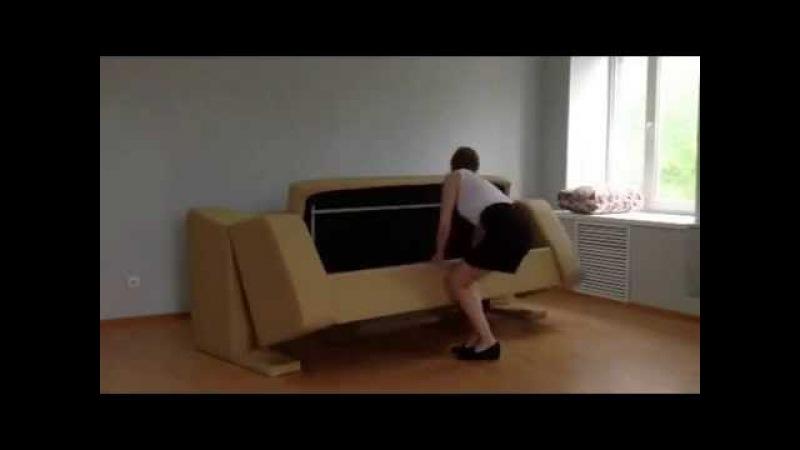 Новинка! диван трансформер в двухъярусную кровать с 3-мя спальными местами. Mebeleva...