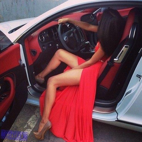 девушка и машина на аву