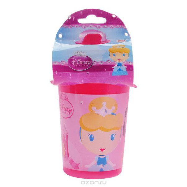 """Поильник-непроливайка """"принцессы"""", цвет: розовый, 380 мл, Disney Princess"""