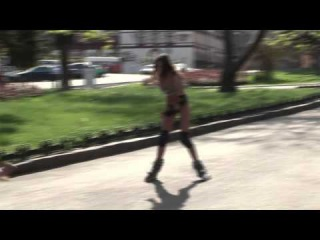 [18+] NEW Best Sexy Crazy Naked and Funny = Sexy Stripper Rollerblader !