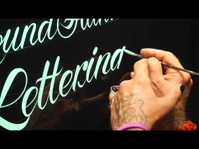 Roundhand Lettering Demo by Glen Weisgerber