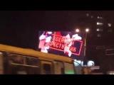 Киевляне увидели страшные кадры из Донбасса на рекламных экранах Киева