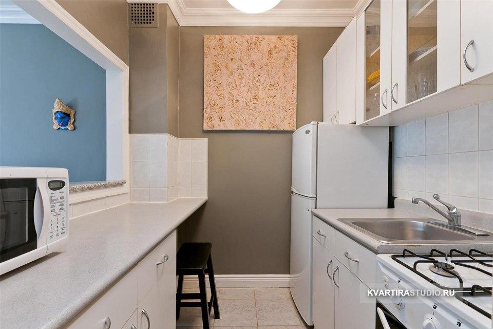 Прямоугольная студия 30 м с мини-кухней в Нью-Йорке / США - http://kvartirastudio.