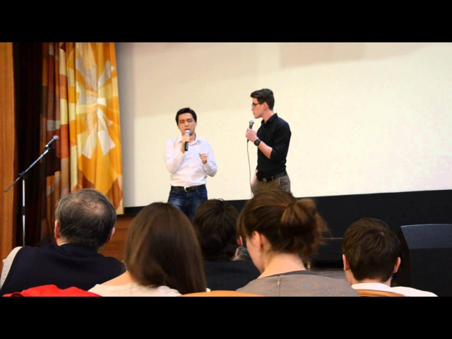 Конкурс китайского языка Студенты ИБДА 2 курс Умаров Тимур и Аксёнов Иван