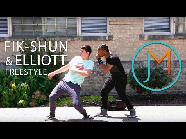 Fik-Shun and Elliott Freestyle JUSMOVE App Winner