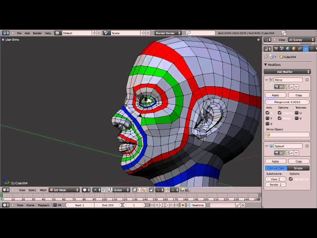Blender Topology Collection Head Overview