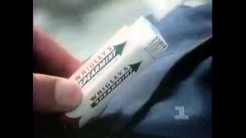 Реклама жевательной резинки Wrigley s Spearmint.