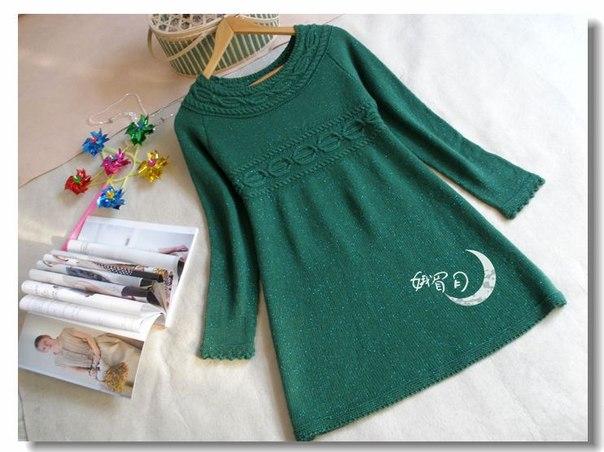 платье спицами (7 фото) - картинка