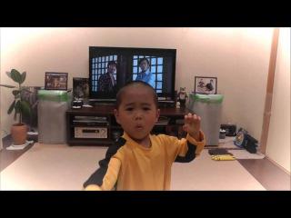 Пятилетний мастер кунг фу. Малыш, копирует бой Брюс Ли