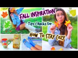 Fall Inspiration! How To Stay Cozy! Fall Outfits, Music, Food & Life Hacks!