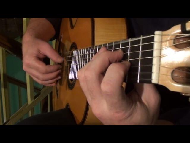 Russian 7 string Guitar - Вот мчится тройка. Обработка С.Орехова
