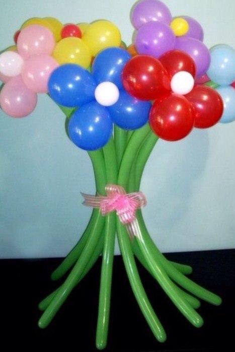 Цветы из воздушных шариков своими руками