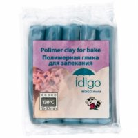 Полимерная глина для запекания, голубая, Idigo