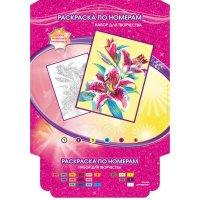 "Набор для творчества """". раскраска по номерам ""цветы"", арт. 6032pb7, Multiart"