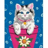 """Набор для раскрашивания """"котенок в цветочном горшке"""", Dimensions"""
