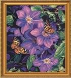 """Набор для раскрашивания по номерам """"цветы и бабочки"""", 40х50 см, РТО"""
