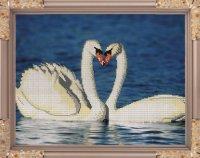 """Набор для вышивания бисером """"лебеди"""", 38x29.7 см, Светлица"""