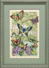 """Набор для вышивания """"лес бабочек"""", Dimensions"""