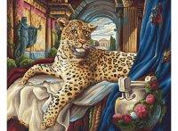 Живопись на холсте. римский леопард, Белоснежка