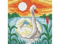 """Мозаичная картина """"белый лебедь"""", Белоснежка"""