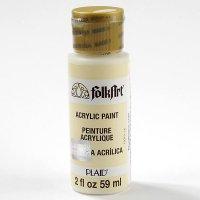 """Краска акриловая """"folkart. acrylic paint"""", теплая белая, 59 мл, PLAID"""