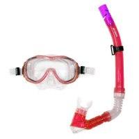 Набор для подводного плавания (маска+трубка) 24104, красный, Atemi