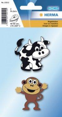 """Термонаклейки """"корова и обезьяна"""", Herma"""