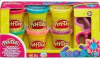 "Набор пластилина play-doh ""блестящая коллекция"", 6 банок, Hasbro (Хасбро)"