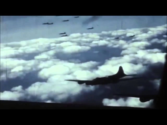 World War 2 Air War Combat Footage in Color