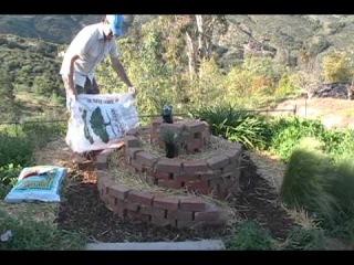 Как сделать спиральную грядку для пряностей и цветов Spiral Herb Garden Design.avi