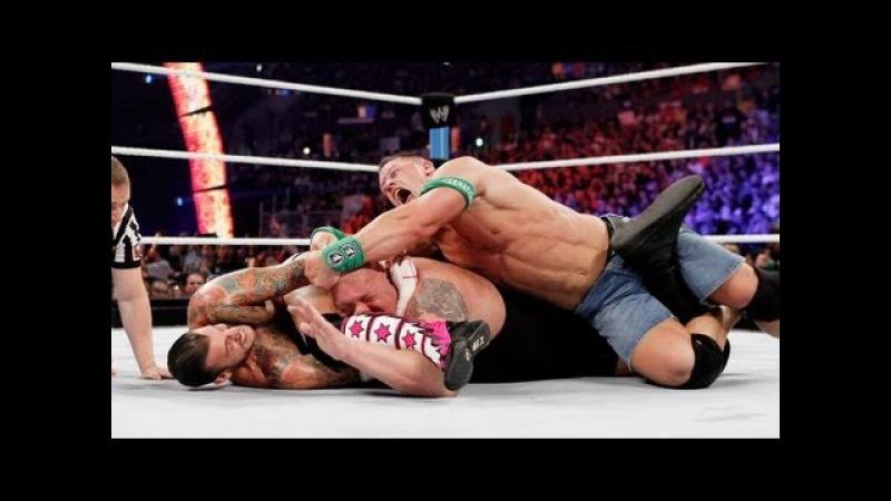 John Cena Vs. Big Show Vs. CM Punk Highlights - HD - WWE Summerslam 2012