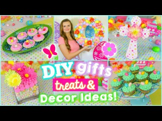 5 Fun Easter/Spring DIYS: Gifts, Treats, & Decoration Ideas!! (Cute & Easy)