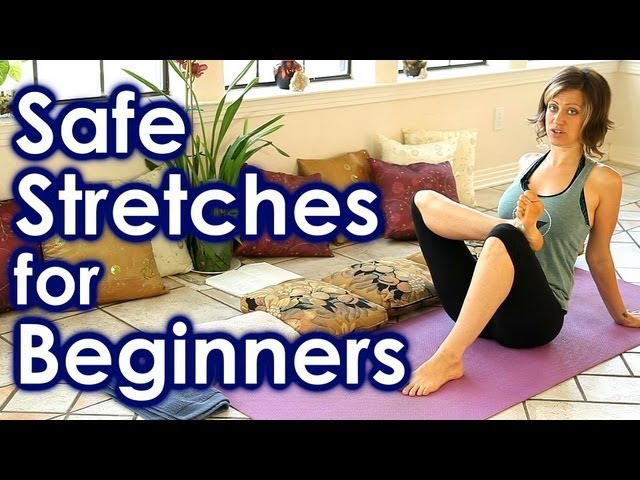 How To Stretch for Beginners, Safe Stretches for Full Body Yoga, Back Leg Pain Relief, Sciatica
