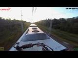 Зайцем на сапсане, СПБ-МСК с 2 плановыми остановками / High-speed trainsurfing 250 km/h in Russia