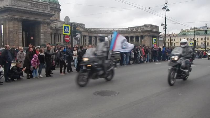 Мото-пробег на Невском проспекте
