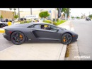 TALL SEXY ASIAN GIRL Revving Driving Lamborghini Aventador! Exhaust Sound