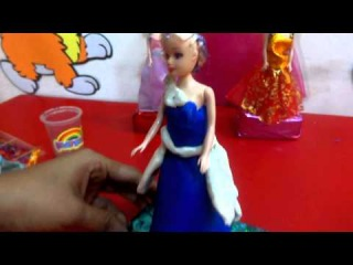 AWESOME YELLOW BLUE AND BLACK LONG SKIRT PLAY DOH FOR PRINCES BARBIE GIRLS BY KIDS TOYS