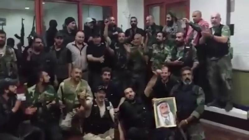 Syria, Suwayda السويداء SAANDF group before depa