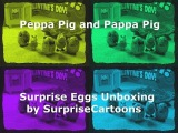 Peppa Pig and Papa Pig Unboxing Surprise Eggs, Frozen, Sponge Bob, Dora the Explorer #Английский #Мультики #Cartoons #English