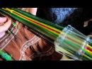 Ткачество на дощечках с перебросом. Урок А.Воронцовой