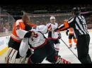 Flyers Capitals line brawl (Goalie Fight) Ray Emery vs Braden Holtby