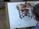 Watercolor demonstration by Marek Yanai - Portrait of Romi