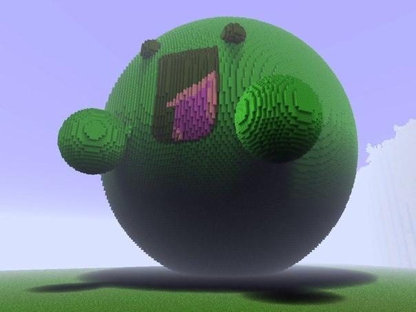 Minecraft: постройки и пиксель
