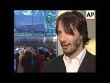 Fans gather as stars of Matrix Reloaded attend London Premiere