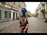 Google Street View žmogus fiksuoja Kauną