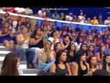 Menina Surprende ao cantar com Tiago Abravanel Caldeirao do Huck